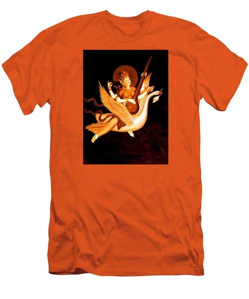 Saraswati 4 Men's T-Shirt (Slim Fit) by Lanjee Chee