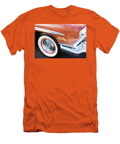 Men's T-Shirt (Slim Fit) featuring the photograph 1958 Pontiac Star Chief  by Rich Franco