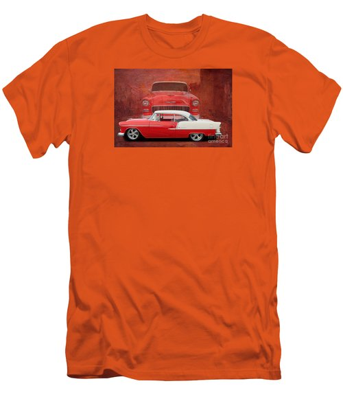 55 Chev Beauty Men's T-Shirt (Slim Fit) by Jim  Hatch