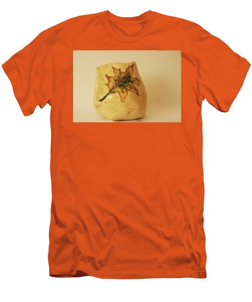 Men's T-Shirt (Slim Fit) featuring the photograph A Pot On A Leaf by Itzhak Richter