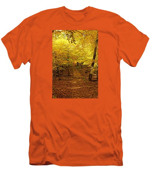 Men's T-Shirt (Slim Fit) featuring the photograph A Walk In The Woods by Steven Clipperton