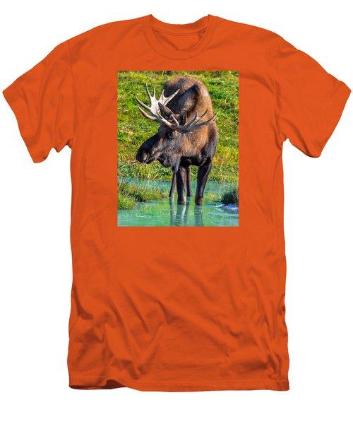 Alaska Moose 5 Men's T-Shirt (Slim Fit) by Brian Stevens