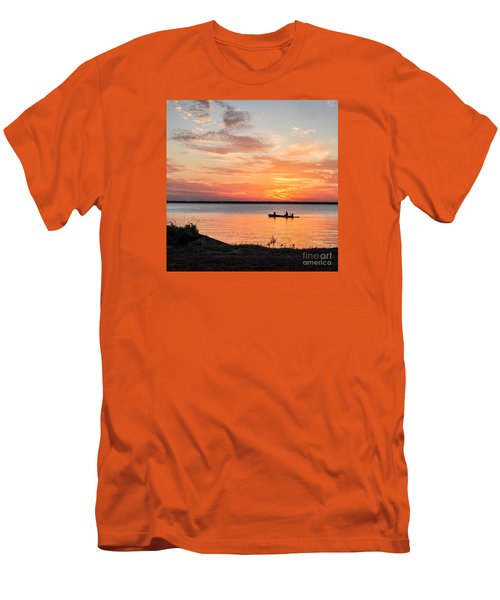 Boating Sunset Men's T-Shirt (Slim Fit) by Cheryl McClure