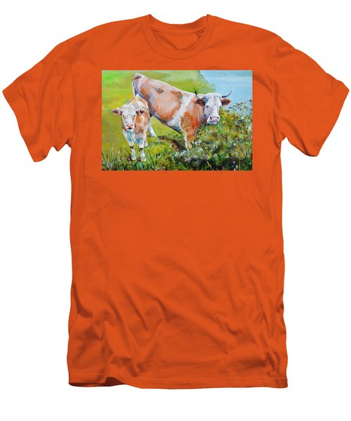 Cow And Calf Painting Men's T-Shirt (Athletic Fit)
