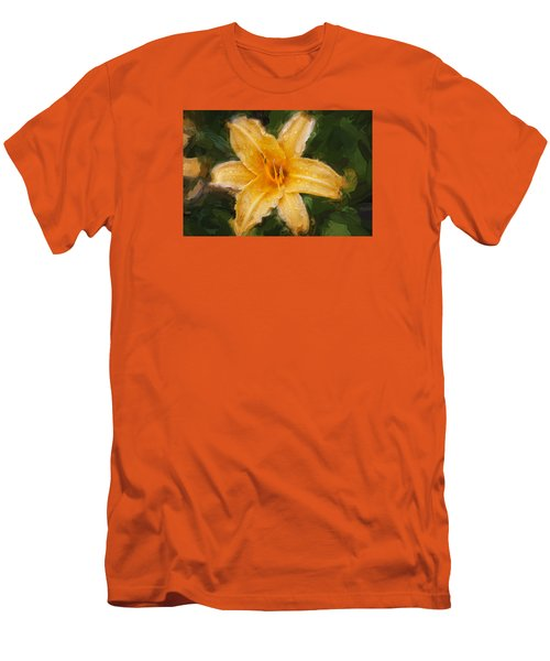Daylily Hemerocallis Stella De Oro  Men's T-Shirt (Slim Fit) by Rich Franco