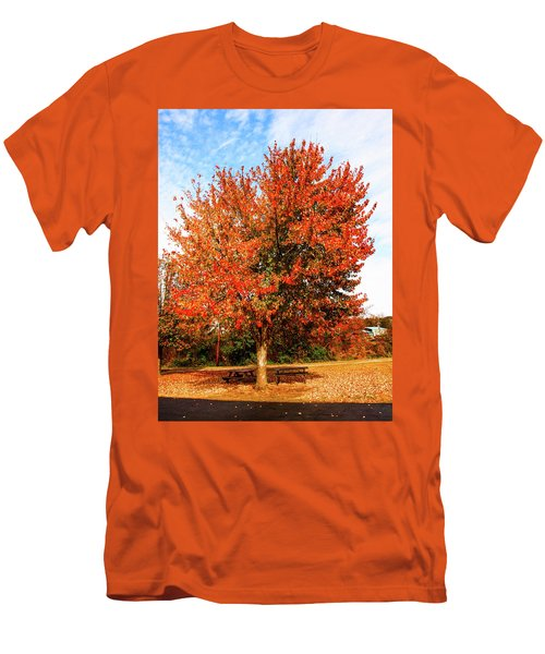 Fall Time Men's T-Shirt (Slim Fit) by Randy Sylvia