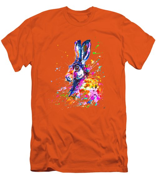 Hare In Grass Men's T-Shirt (Athletic Fit)