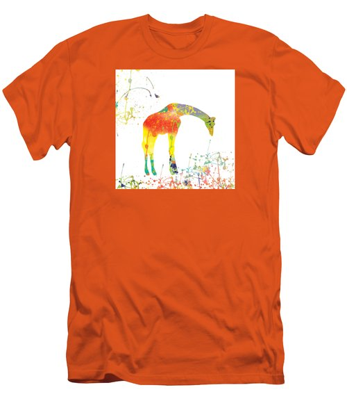 Men's T-Shirt (Slim Fit) featuring the digital art Hello by Trilby Cole