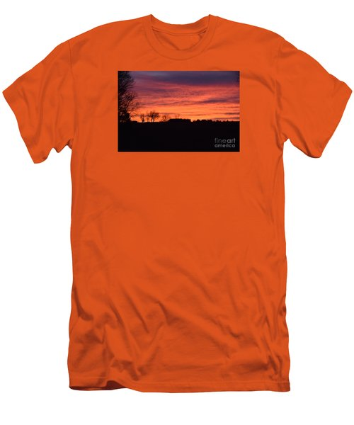 Kansas Sunset Men's T-Shirt (Slim Fit) by Mark McReynolds