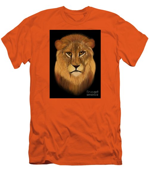 Lion - The King Of The Jungle Men's T-Shirt (Athletic Fit)