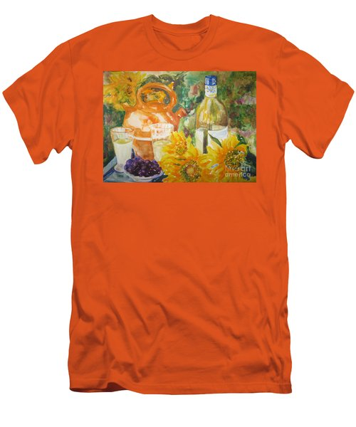 Lunch In Provence Men's T-Shirt (Slim Fit) by Lisa Boyd