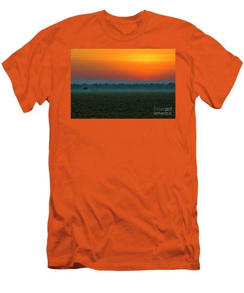 Men's T-Shirt (Slim Fit) featuring the photograph Masai Mara Sunrise by Karen Lewis
