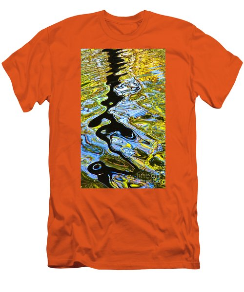 Men's T-Shirt (Slim Fit) featuring the photograph Mill Pond Reflection by Tom Cameron