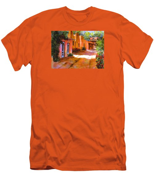 Near Canyon Road Men's T-Shirt (Slim Fit) by Ann Peck
