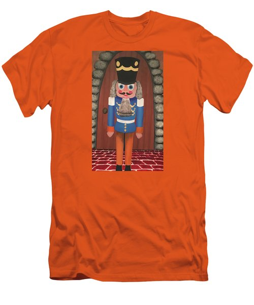 Men's T-Shirt (Slim Fit) featuring the painting Nutcracker Sweet by Thomas Blood