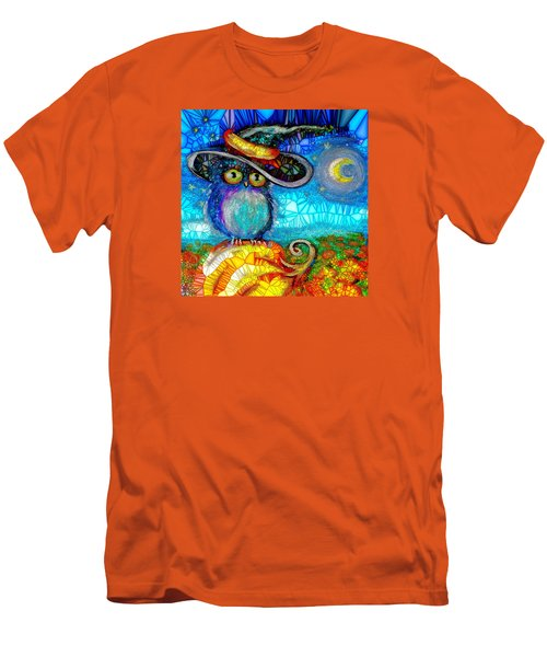 Men's T-Shirt (Slim Fit) featuring the digital art Owl Scare You by Agata Lindquist