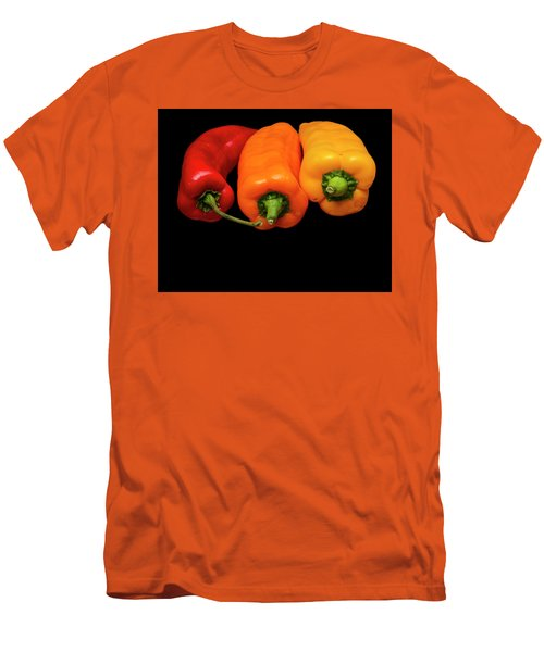 Men's T-Shirt (Slim Fit) featuring the photograph Peppers Red Yellow Orange by David French