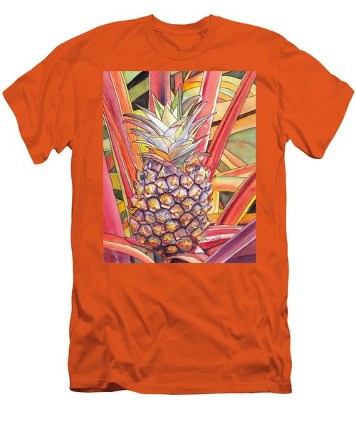 Pineapple Men's T-Shirt (Slim Fit) by Marionette Taboniar
