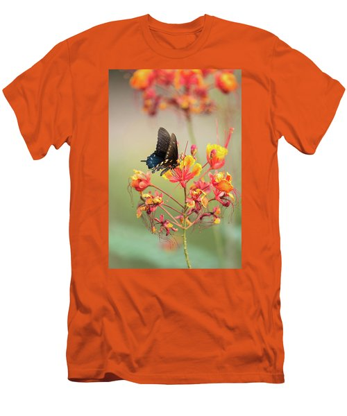 Men's T-Shirt (Athletic Fit) featuring the photograph Pipevine Swallowtail Butterfly  by Saija Lehtonen