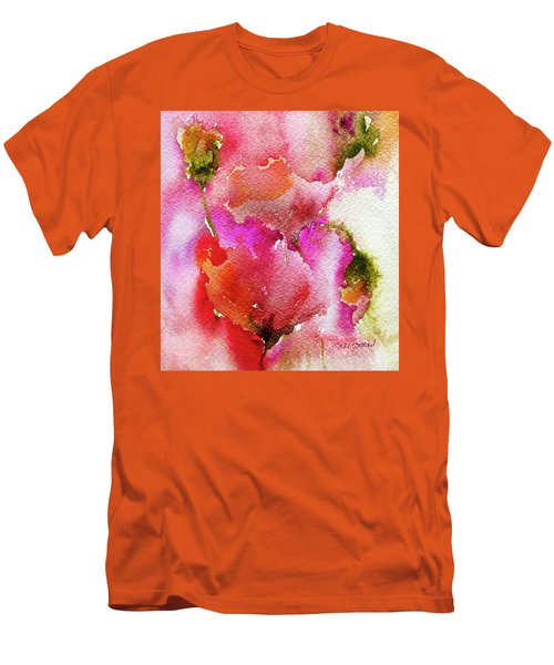 Men's T-Shirt (Slim Fit) featuring the painting Poppy Garden by Linde Townsend
