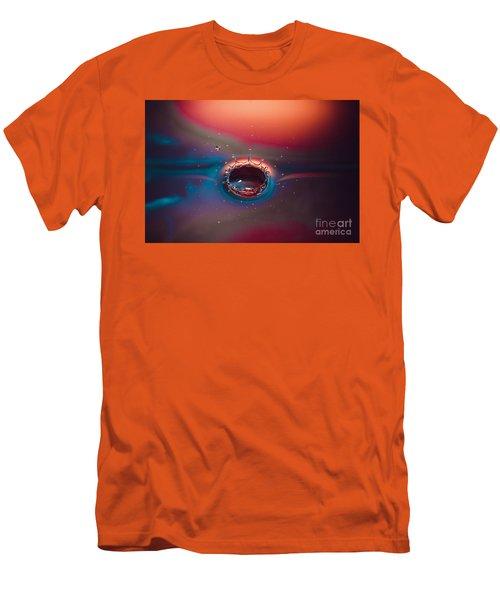 Rainbow Splash Men's T-Shirt (Athletic Fit)