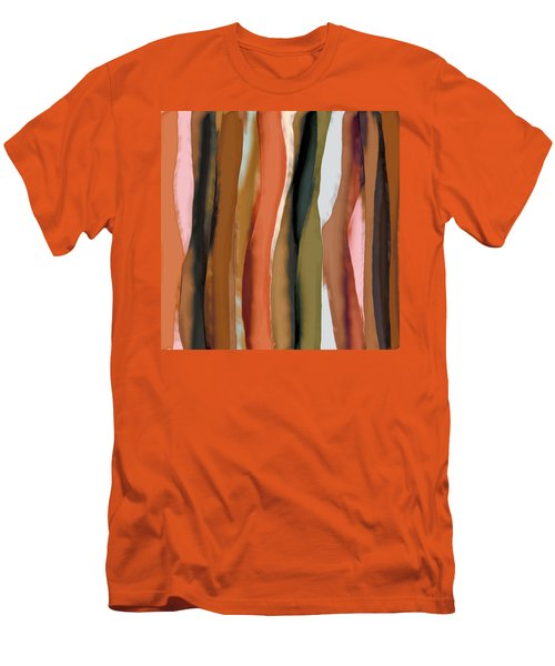 Men's T-Shirt (Slim Fit) featuring the painting Ribbons by Bonnie Bruno