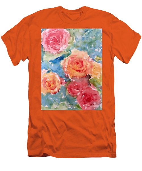 Roses Men's T-Shirt (Slim Fit) by Trilby Cole