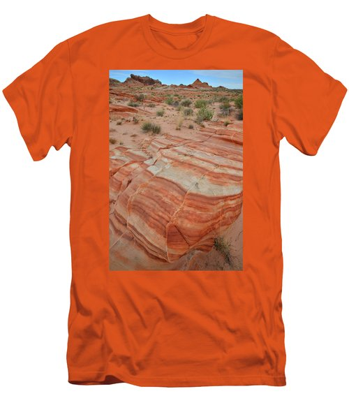 Men's T-Shirt (Slim Fit) featuring the photograph Sandstone Stripes In Valley Of Fire by Ray Mathis