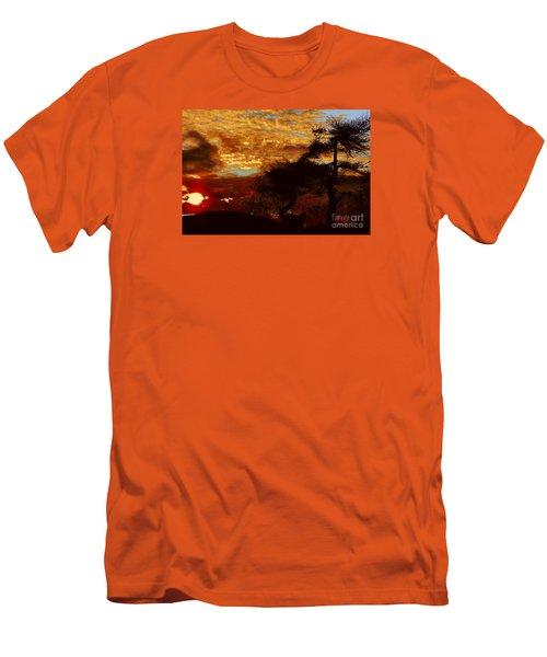 Sechelt Tree 2 Men's T-Shirt (Slim Fit) by Elaine Hunter
