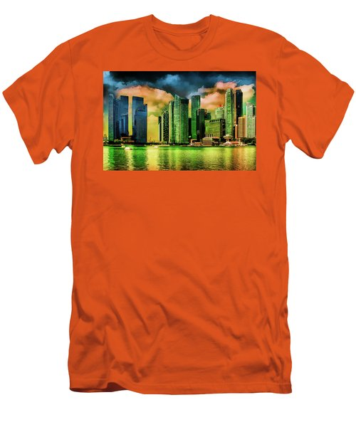 Singapore Skyline Men's T-Shirt (Athletic Fit)