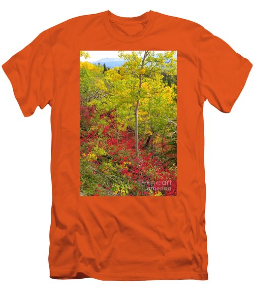 Splash Of Autumn Men's T-Shirt (Athletic Fit)