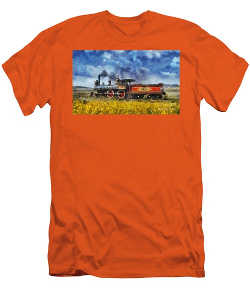 Men's T-Shirt (Slim Fit) featuring the photograph Steam Locomotive by Ian Mitchell