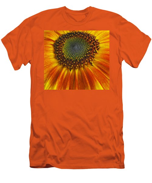 Sunflower Center Men's T-Shirt (Slim Fit) by Elvira Butler