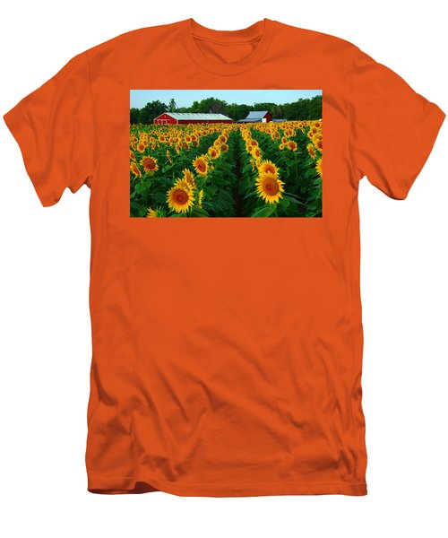 Sunflower Field #4 Men's T-Shirt (Slim Fit) by Karen McKenzie McAdoo
