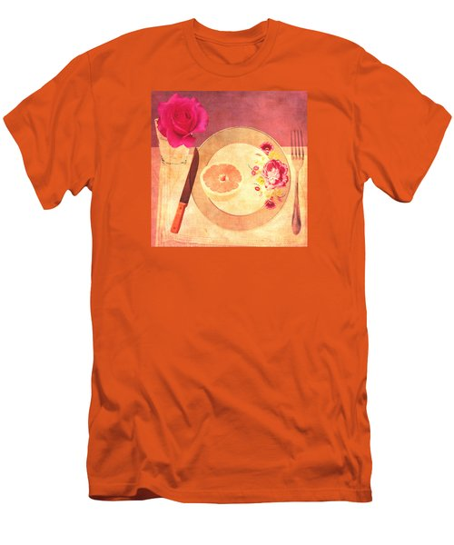 Men's T-Shirt (Slim Fit) featuring the digital art Tablescape by Lisa Noneman