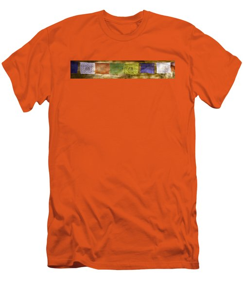 Tibetan Prayer Flags Men's T-Shirt (Slim Fit) by Peter v Quenter