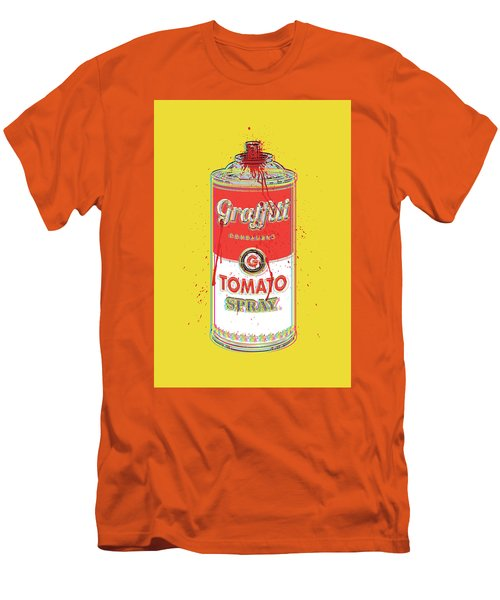 Tomato Spray Can Men's T-Shirt (Slim Fit) by Gary Grayson
