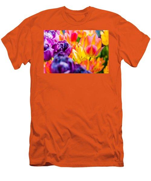 Men's T-Shirt (Slim Fit) featuring the photograph Tulips Enchanting 39 by Alexander Senin