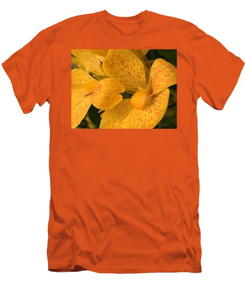 Yellow Lily Men's T-Shirt (Slim Fit) by Kay Gilley