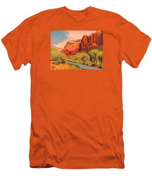 Zion Canyon Men's T-Shirt (Slim Fit) by Dan Miller