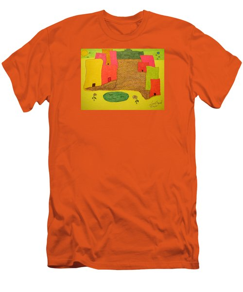 10 Flat Buildings With Fish Pool Men's T-Shirt (Athletic Fit)