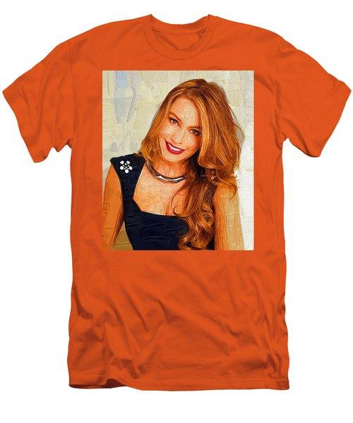 Actress Sofia Vergara  Men's T-Shirt (Slim Fit) by Best Actors