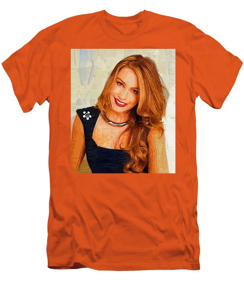 Actress Sofia Vergara  Men's T-Shirt (Athletic Fit)