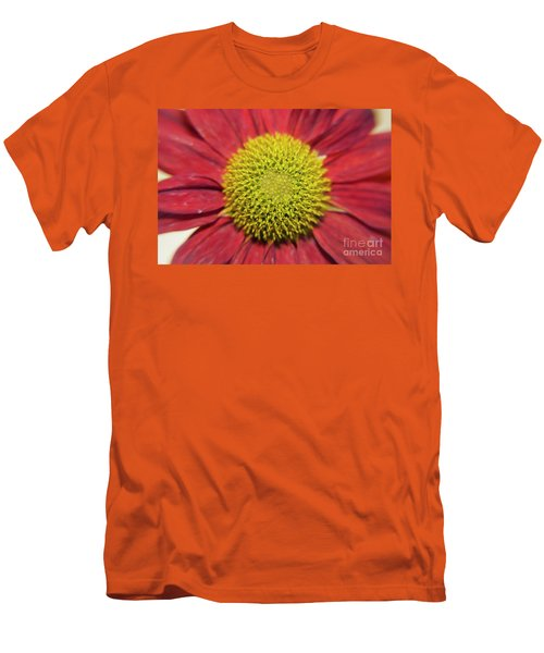 Red Flower Men's T-Shirt (Slim Fit) by Elvira Ladocki