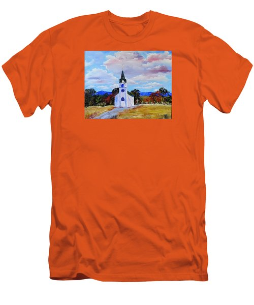 #17 St. Johns Historic Church On Hwy 69 Men's T-Shirt (Athletic Fit)