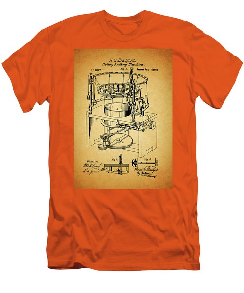 1871 Rotary Knitting Machine Men's T-Shirt (Slim Fit) by Dan Sproul
