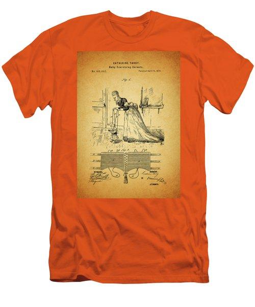 1874 Baby Exercising Corset Men's T-Shirt (Slim Fit) by Dan Sproul