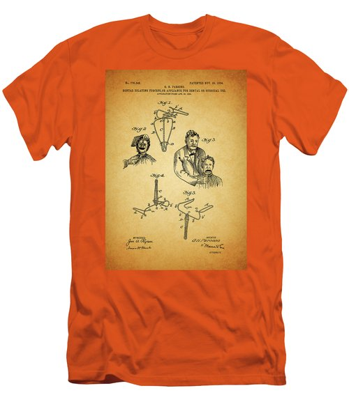 1904 Dental Forceps Patent Men's T-Shirt (Slim Fit) by Dan Sproul