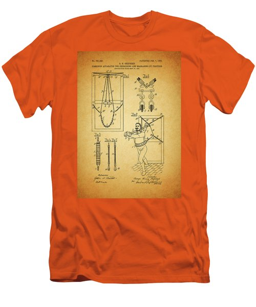 1905 Exercise Apparatus Patent Men's T-Shirt (Slim Fit) by Dan Sproul
