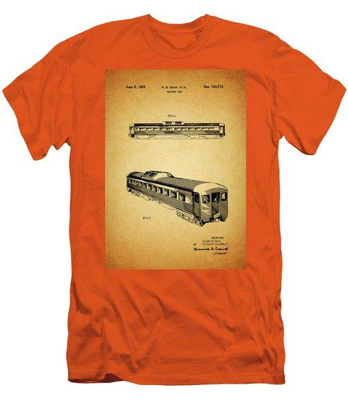 1951 Railway Car Patent Men's T-Shirt (Slim Fit) by Dan Sproul
